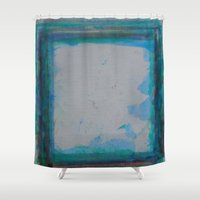 frame Shower Curtains featuring Frame by Kristin Rodgers