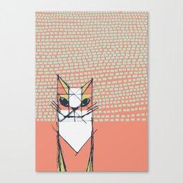 Cubist Cat Study #7 by Friztin Canvas Print
