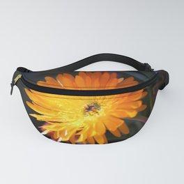 Orange mesem flower Fanny Pack