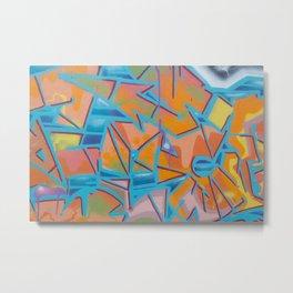 graffiti / street art artwork pattern Metal Print