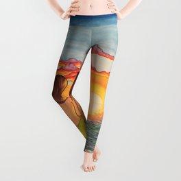 Mermaid Sunset Leggings