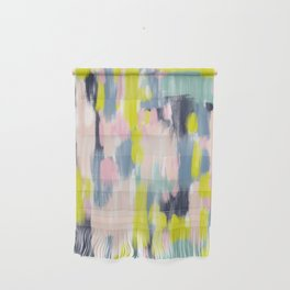 Abstract Brush Stroke Art in Modern Color Palette Wall Hanging
