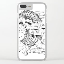 Alien 1-qwerty Clear iPhone Case