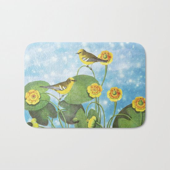 One Morning in the Water Lily Pond Bath Mat