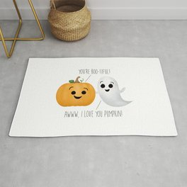 Boo-tiful Couple | Pumpkin & Ghost Rug