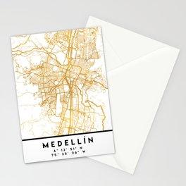 MEDELLÍN COLOMBIA CITY STREET MAP ART Stationery Cards