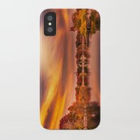 jamaica iPhone & iPod Cases featuring Sunset over Jamaica Pond by LudaNayvelt