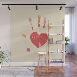 Heart Hand Wall Mural