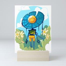 Flower Robot Mini Art Print