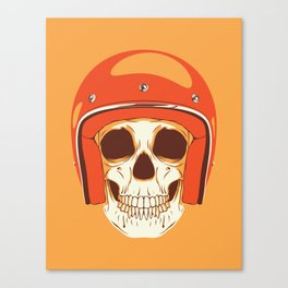 Helmet Skull Canvas Print