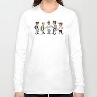 1d Long Sleeve T-shirts featuring 1D Animated by pygmy