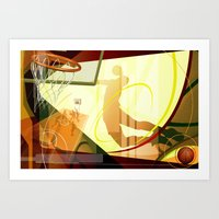 basketball Art Prints featuring Basketball by Robin Curtiss