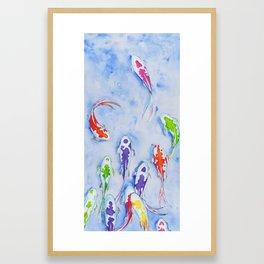 Candy fish - Koi/Goldfish Painting Framed Art Print