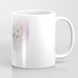 Botanical Moth, Moth Art, Succulent Hues Coffee Mug