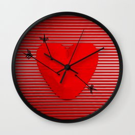 Abstract composition of a heart-shaped target. Wall Clock