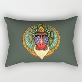 Mandrillus Sphinx Rectangular Pillow