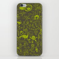 doodle iPhone & iPod Skins featuring Doodle by Sarinya  Withaya