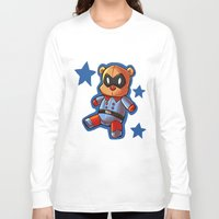 bucky Long Sleeve T-shirts featuring bucky!bear by zombietonbo