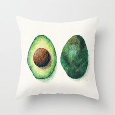 Avocado Split Throw Pillow