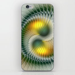 Like Yin and Yang, Abstract Fractal Art iPhone Skin