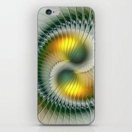 Like Yin and Yang, Abstract Fractal Art iPhone Skin