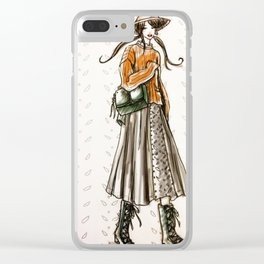 Cozy country walk Clear iPhone Case