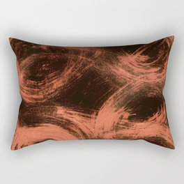 Kleinspir, Abstract, Orange Flamengo Rectangular Pillow