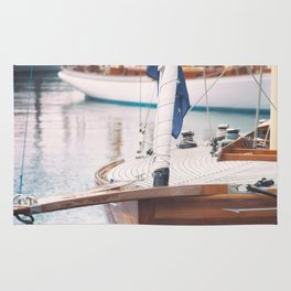 Wood Sailing Boat Rug