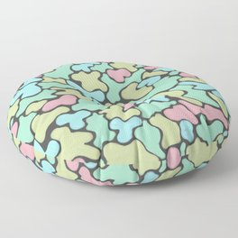 Pile of rejected candy Floor Pillow