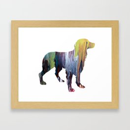 Brittany Spaniel Framed Art Print