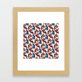 Koi carp fish fish Colorful pattern Framed Art Print