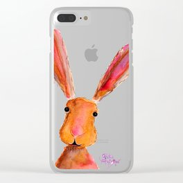 Happy Hare ' LoLLiPoP ' by Shirley MacArthur Clear iPhone Case