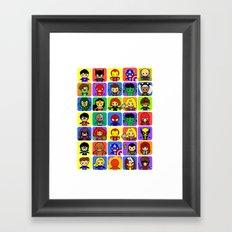 Hero Collection  Framed Art Print
