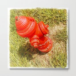 RED FIRE HYDRANT  Metal Print
