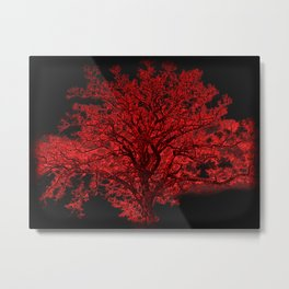 Red Tree A182 Metal Print