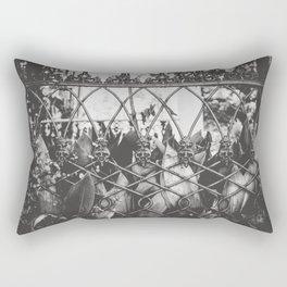 Skull Fence of New Orleans Rectangular Pillow
