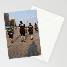 Beach Cops on Patrol Stationery Cards