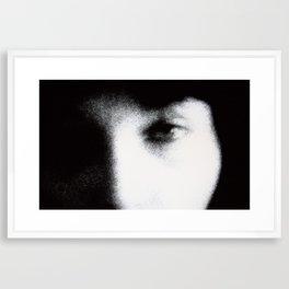 blue eye Framed Art Print
