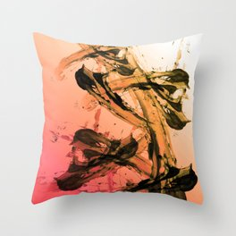 Calm and Fiery Abstraction Throw Pillow