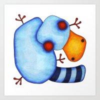 platypus Art Prints featuring Platypus by Striped Aardvark