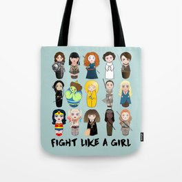 Kokeshis Fight like a girl Tote Bag