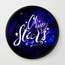 Oh My Stars Wall Clock