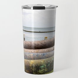 Old rusty cannons. Travel Mug