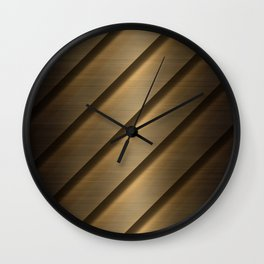 Copper Brass Metal Pipe Wall Clock