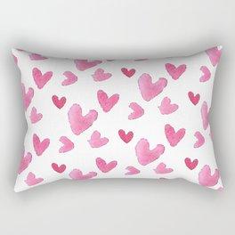 Be my valentine blush pink vector romantic heart pattern Rectangular Pillow