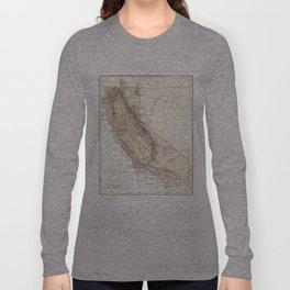 Vintage Map of California (1878)  Long Sleeve T-shirt