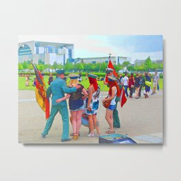 BERLIN-Fun Metal Print