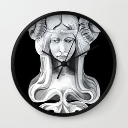 graphic symbol woman Barcelona Wall Clock