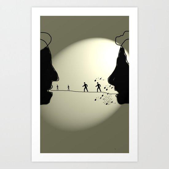 Argument Art Print