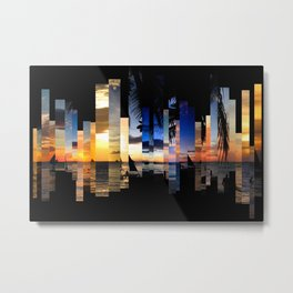 Sunsets and Beaches Metal Print